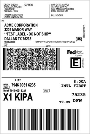 Shipment Label